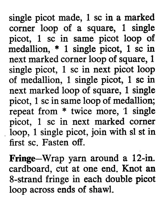 Vintage Medallion Crocheted Stole Pattern