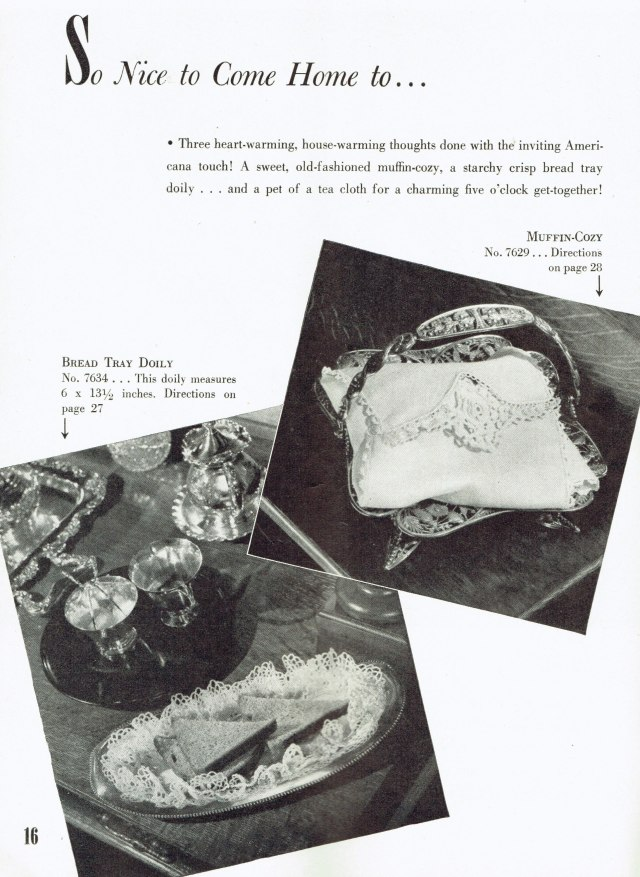 Muffin-Cozy and Bread Tray Doily Patterns