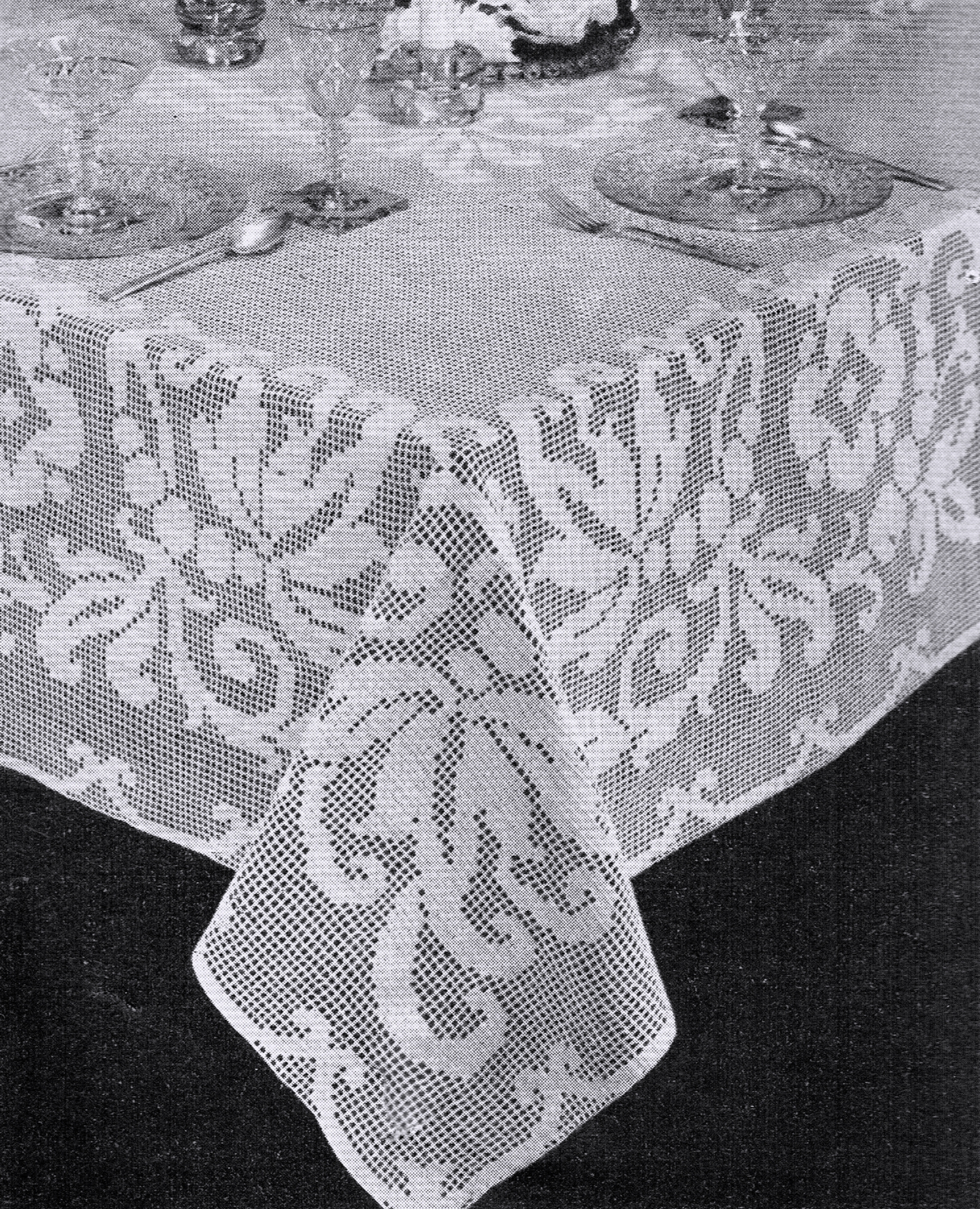 Free Vintage Filet Crochet Tablecloth Patterns