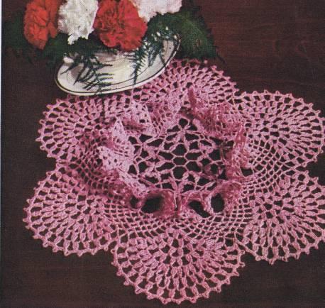 Carnation Ruffle Doily