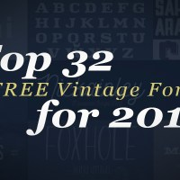 Top 32 FREE Vintage Fonts for 2016