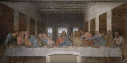 Leonardo da Vinci's Last Supper, 1498, recently restored 1999.