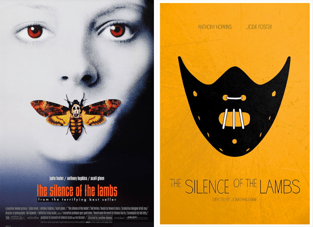 the silence of the lambs minimalist movie posters