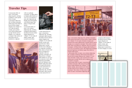 Layout Design  Types of Grids for Creating Professional Looking     The magazine example below uses a three column grid with proportional  widths  The title and subtitle take up the space of all three columns while  some