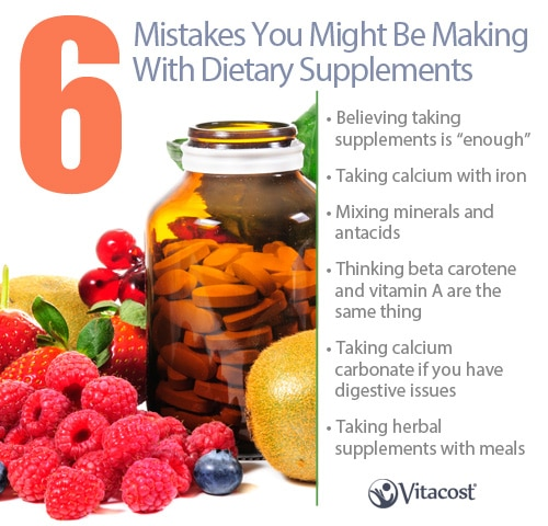 6 Mistakes You Might Be Making With Dietary Supplements