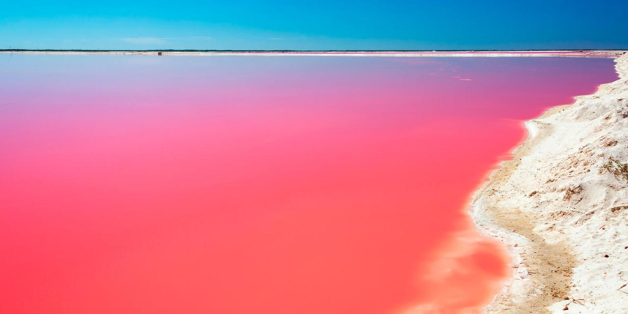 Laguna rosa en Yucatán