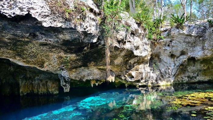 Gran cenote en México