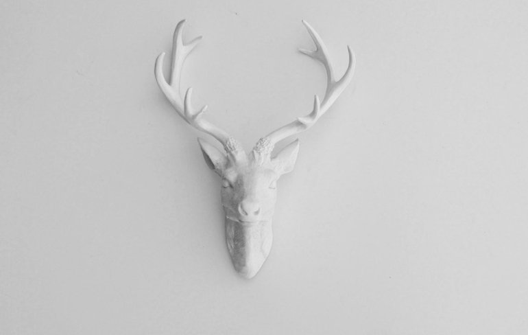 Lovely ceramic antlers, very subtle