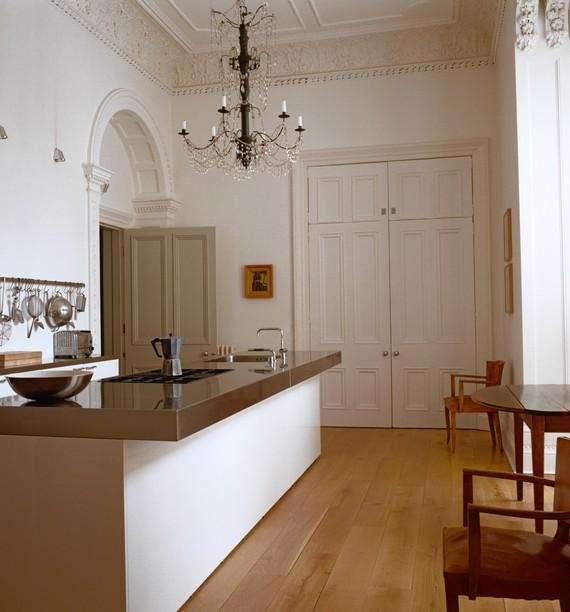 Jasper Conran's minimal kitchen in his historic house