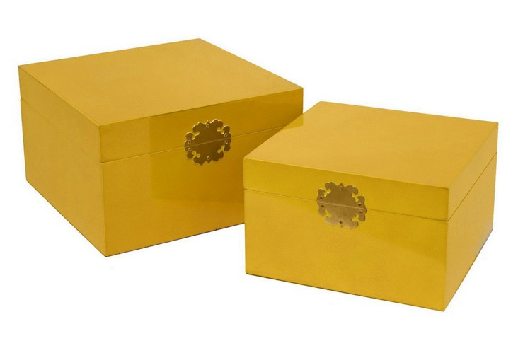 Set of 2 Royal Boxes from One Kings Lane - USD 59,00
