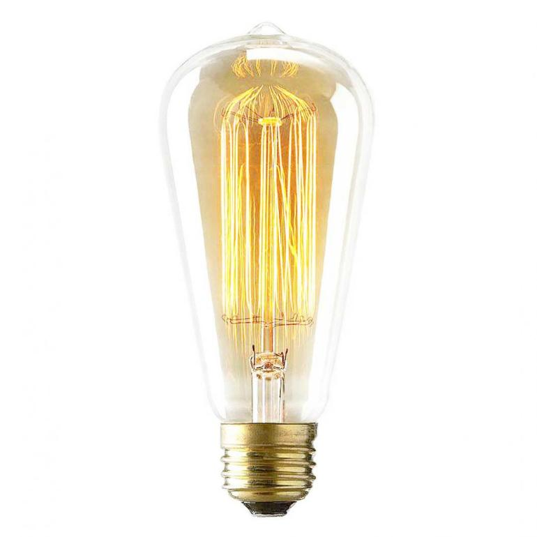 Vintage 60 Watt Reproduction Original Edison Light Bulb from Inhabit Living - USD 10,00