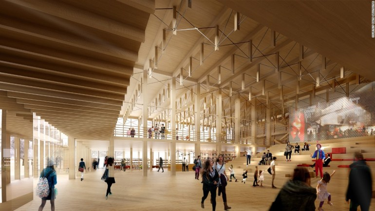 """Interior of the """"Sida Vid Sida"""" building proposed to be built in Skelletea and expected to be finalised in 2019"""