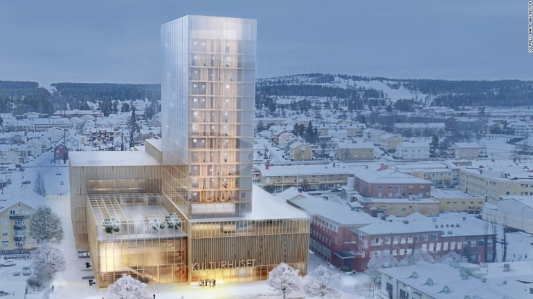 The proposed Sida Vid Sida - side by side - building designed by Swedish architects White Arkitekter - via CNN
