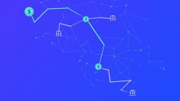 Implicaciones financieras de Lightning Network, imagen ilustrativa de nodos como bancos y dinero conectados