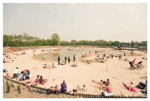 Nieuwe krekenplas aan strand van Sport- en Recreatiepark Blaarmeersen