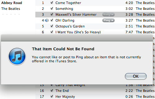 iTunes Ping screenshot door Bruno Bollaert