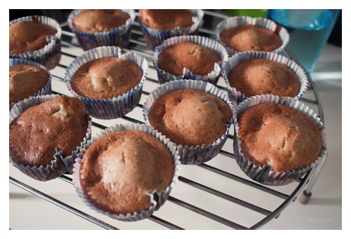 Sexy low-fat vanilla cupcakes with chocolate buttercream frosting door Bruno Bollaert