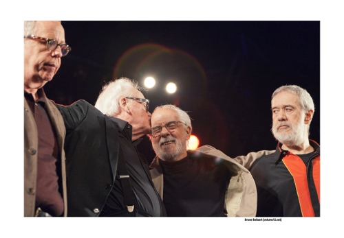Toots Thielemans, Kenny Werner, Oscar Castro-Neves & Airto Moreira op Jazz Middelheim door Bruno Bollaert