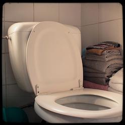 De wc door Bruno Bollaert