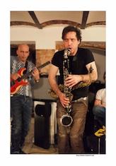 Nate Wooley / Marc Ducret / Teun Verbruggen + guest: Andrew D'Angelo @ La Resistenza door Bruno Bollaert