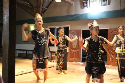 jungle tribe dancing in borneo