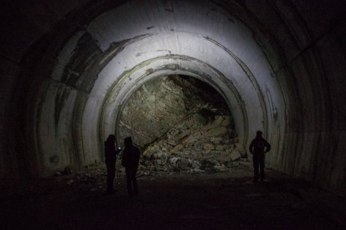 The sort of roadside attraction I like - an unfinished tunnel in middle of the mountain in a foreign country. (Photo: Heli)