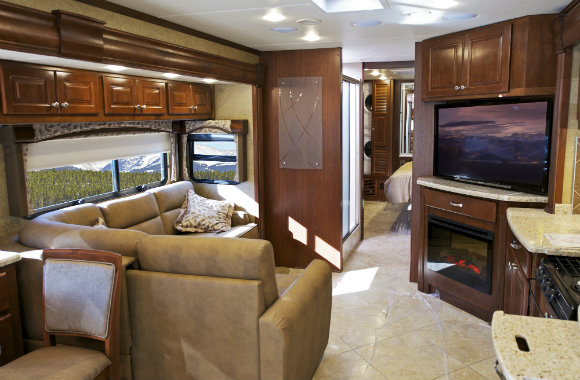 rv hire interior