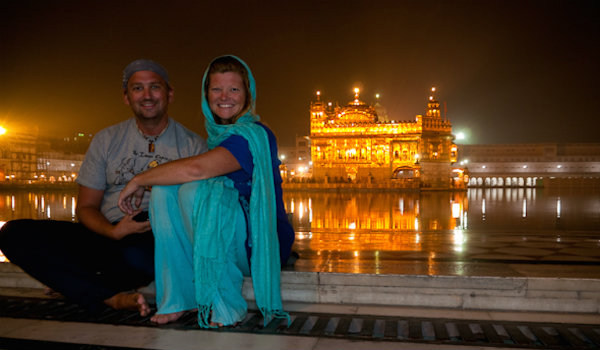 Dave and Deb in India
