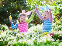 Kids enjoying the Easter egg hunt