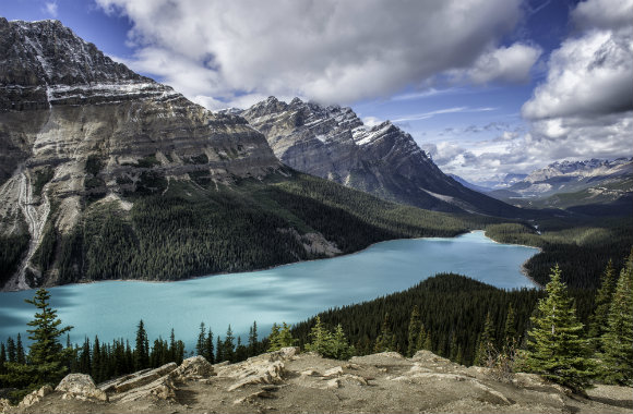 Peyto Lake, Rocky Mountains