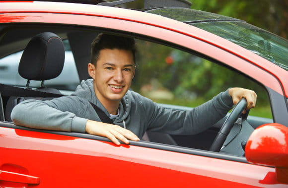 teenager driving in Australia