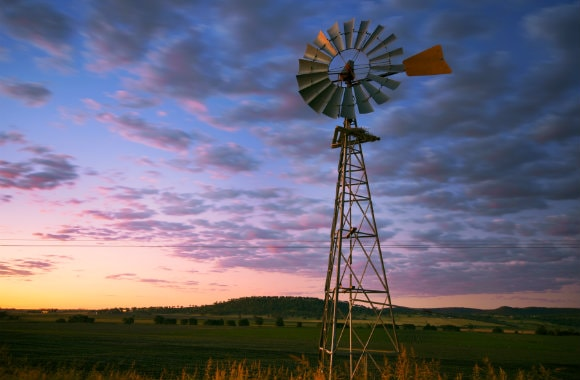 Wind mill in the Outback of Queensland, Brisbane, AU