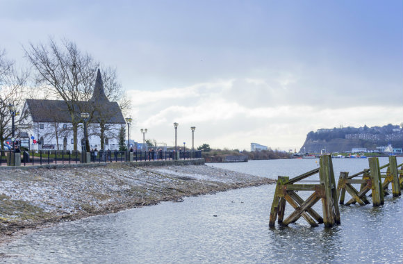 Cardiff bay in winter, Wales