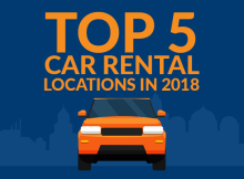 top 5 car rental locations in 2018