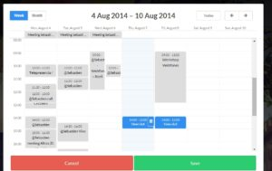 vyte.in sync calendar time picker