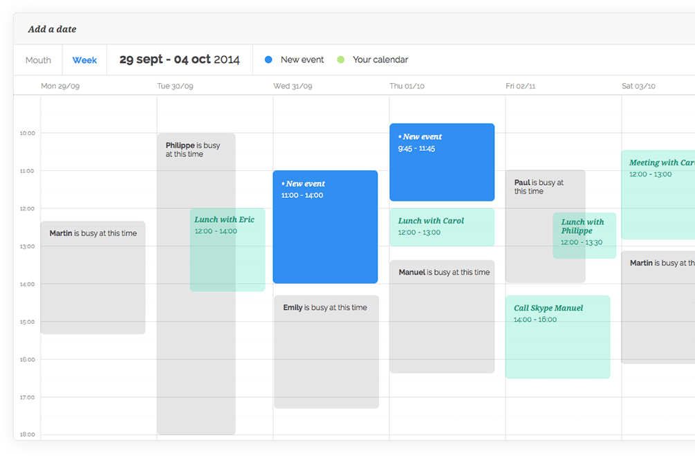 Scheduling meets Calendar sharing | vyte.in newsletter – November, 2014