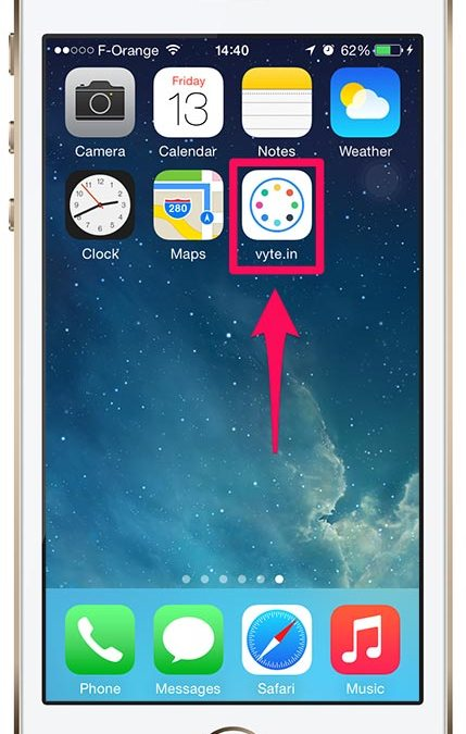 iPhone : How to add vyte.in to your homescreen ?