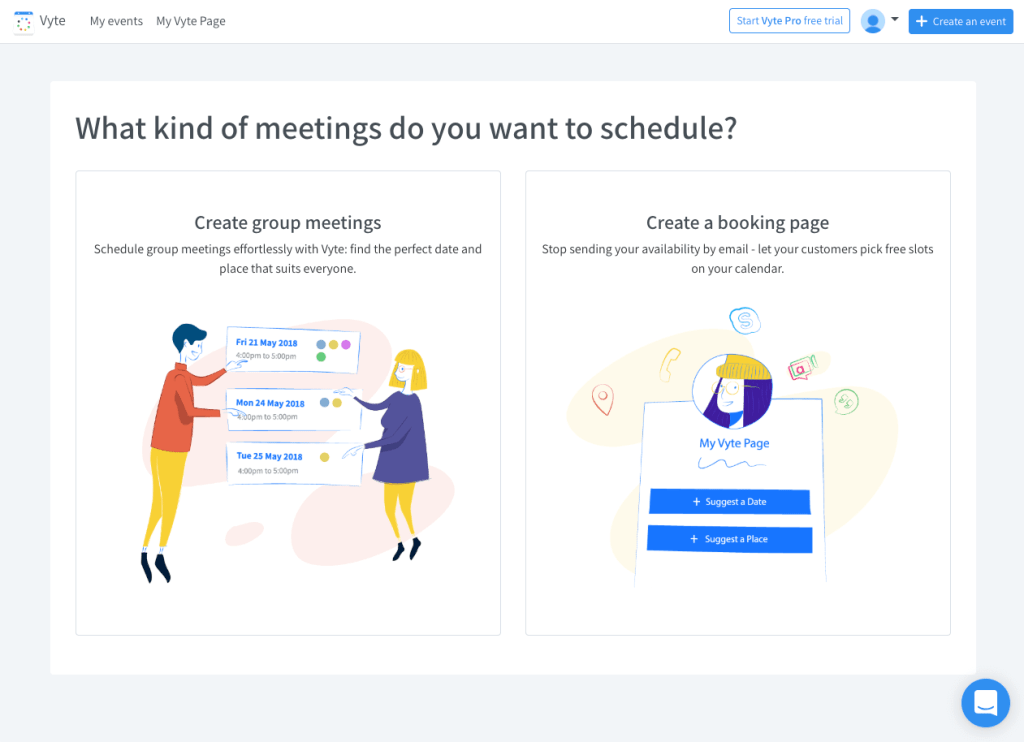 Create Booking Page Vyte