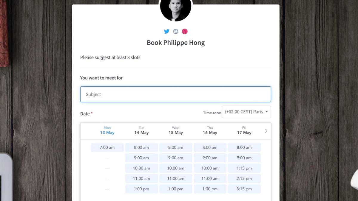 Add a Slot Picker in your Booking Page