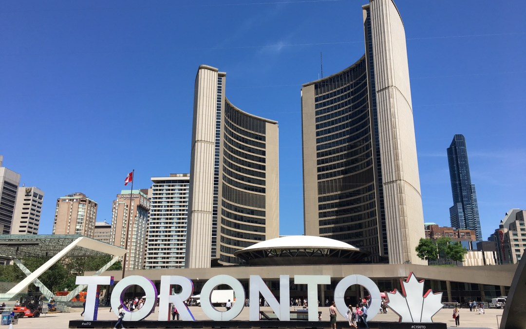 Toronto's Nathan Phillips Square with Kids in TOw