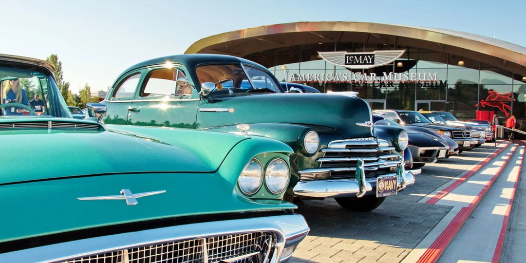 Classic cars at the LeMay auto museum in Tacoma