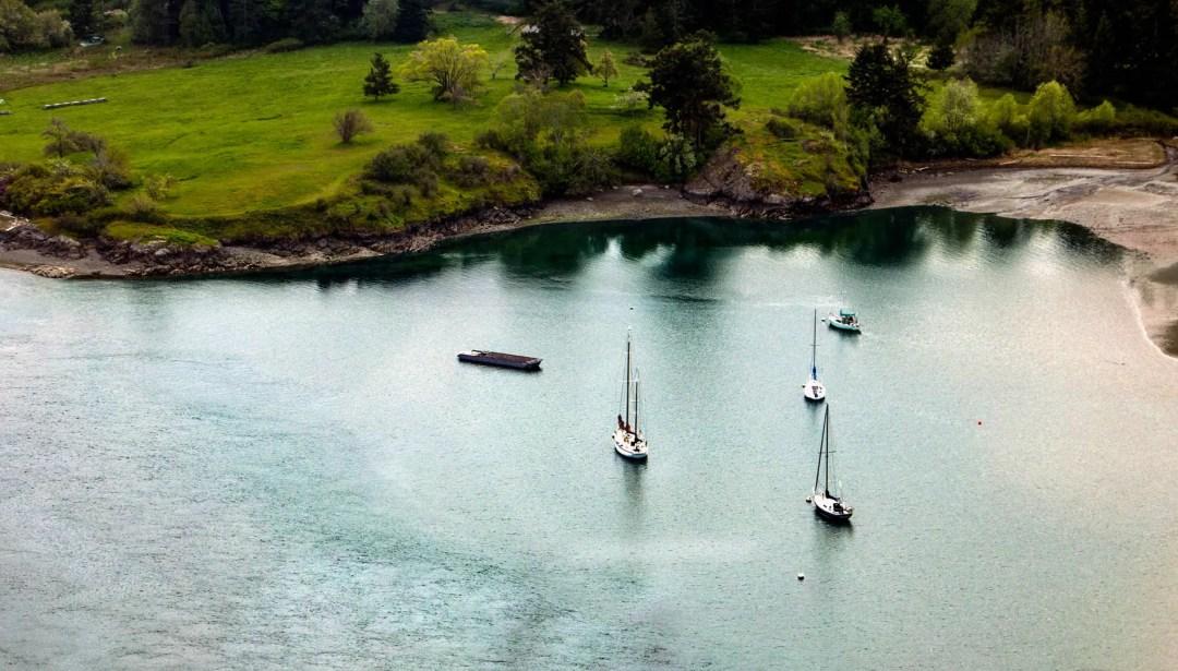 boats at Lummi Island