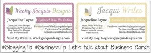 Let's talk about Business Cards #BloggingTip #BusinessTip
