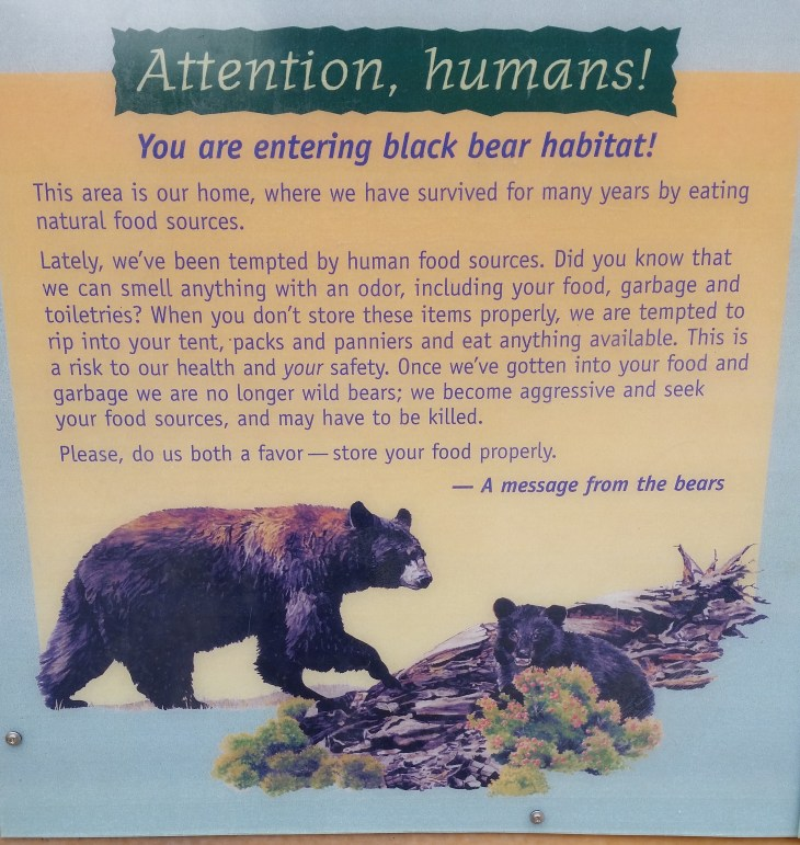 Attention Humans! A message from the bears