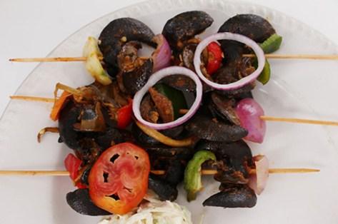 snail kebab suya style