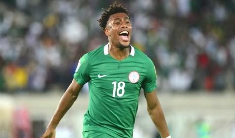 Iwobi after a goal
