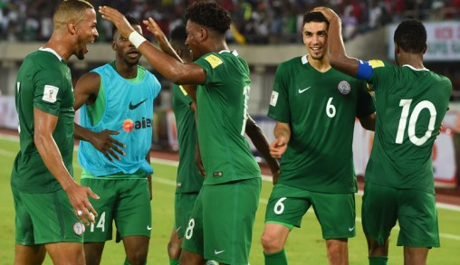 Nigerian team celebrate victory
