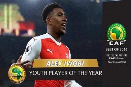 Alex Iwobi wins the 2016 CAF Young Player Award