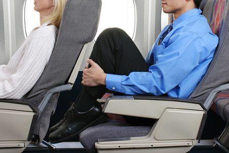 Legroom aboard a flight