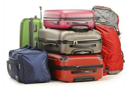 Baggages at an airport terminal